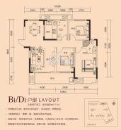 香山院==B1D1户型-三房两厅两卫