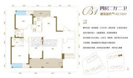 汇金壹号·孔雀湾==四房两厅两卫142.10㎡