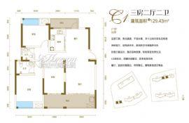 汇金壹号·孔雀湾==三房两厅两卫129.43㎡