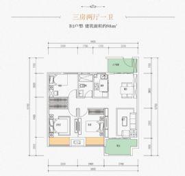 兴国九里蓝湾==户型图