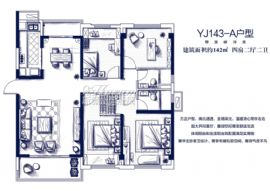 碧桂园联发·天荟公馆(蓉江府)==142平四房两厅两卫