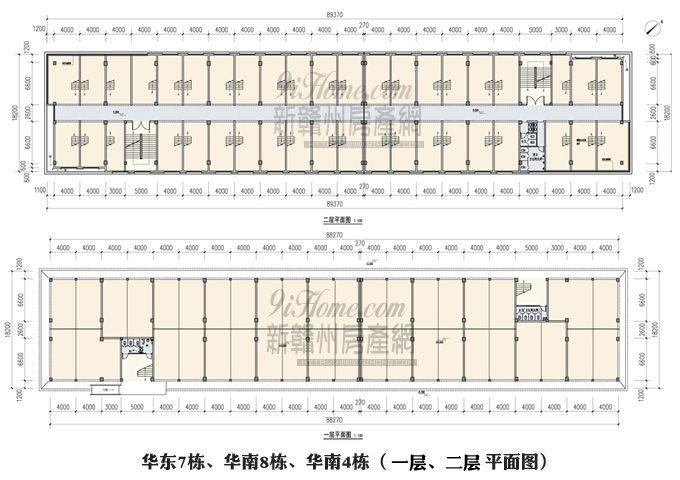 国际建材板材城==一层、二层平面图