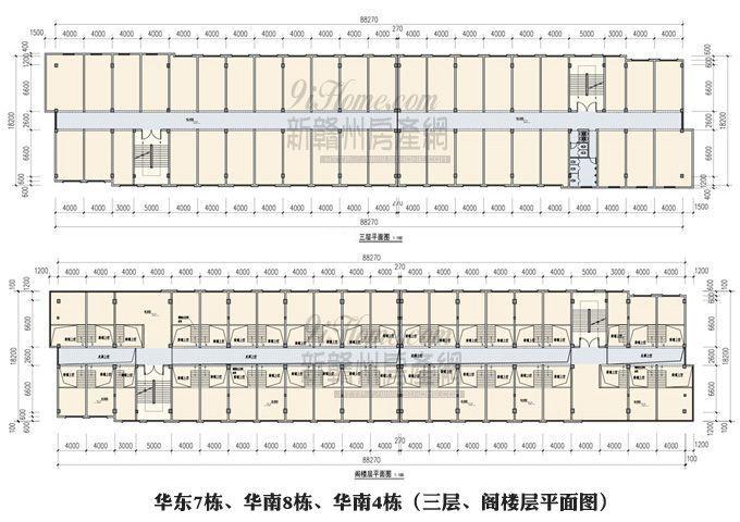 国际建材板材城==三层、阁楼层平面图