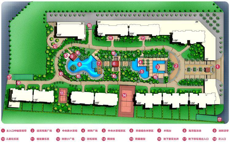 三和·悦城展示图:园林平面图