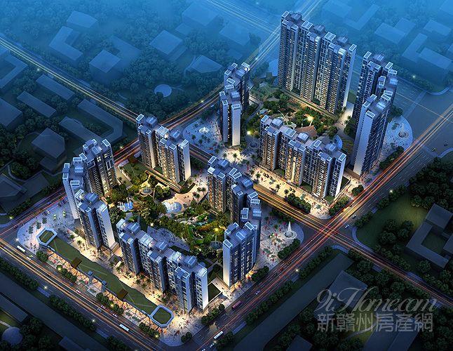 赣州中央城楼盘展示图