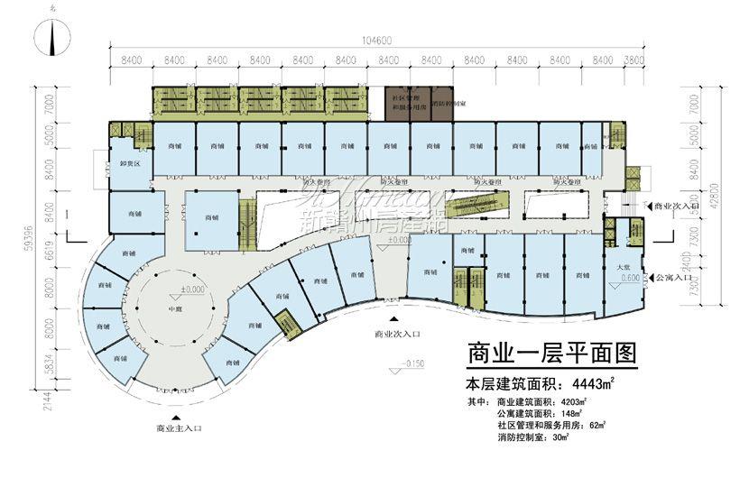 国兴永安居==商业一平面图