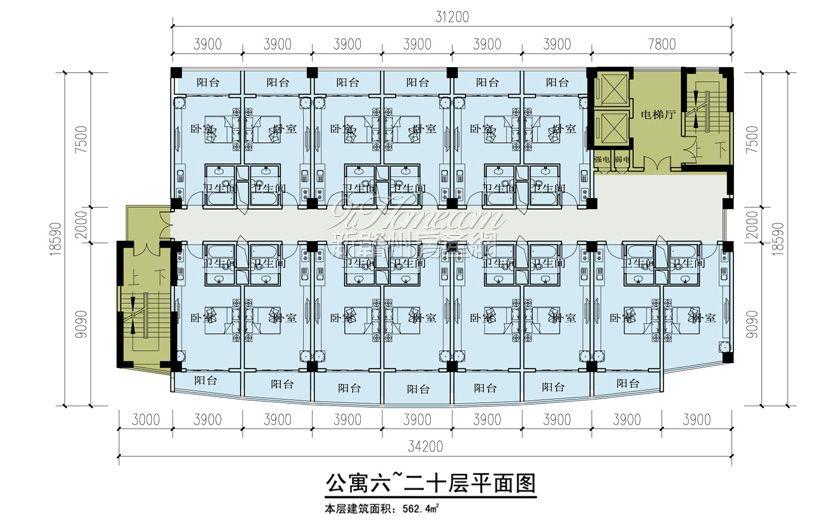 国兴永安居==公寓六平面图