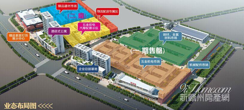 中国南方金属产业商贸物流城==布局图