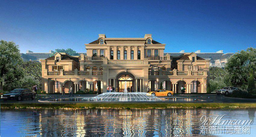 翡翠谷(展示中)别墅大客厅效果图图片