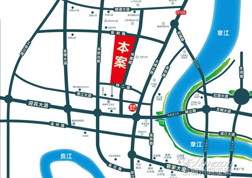 活力西城领地,蓄力虔城之势   经济扩张:西城区在原有版图上西扩,囊括原南康凤岗、唐江等区域进行经济开发,并独得发展政策、资金红利,未来潜力不可限量。   立体交通:西城区作为赣州西大门,优享枢纽级地段优势,黄金机场、厦蓉高速等立体交通,西城速度,无可比拟。   精研人本需求,升级优居体验   板式华宅:精工华宅,精工打造两梯两户板式华宅,南北通透,明厨明卫   比例车位:超1:1停车位,采用地上访客、地下住户车库双层设计,舒适需求从容体验。     物管生活,服务面面俱到   安防体系:24小时全天